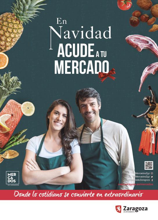 Cartel campaña mercados de Zaragoza